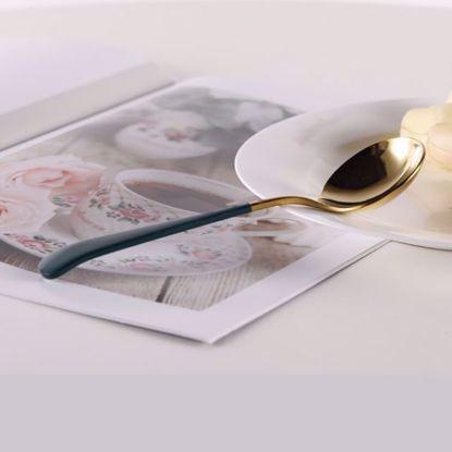 صورة Stainless Steel Round Spoon